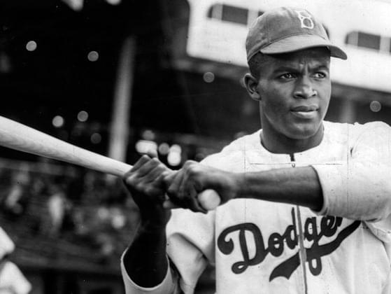 Jackie was the first colored player to do what?