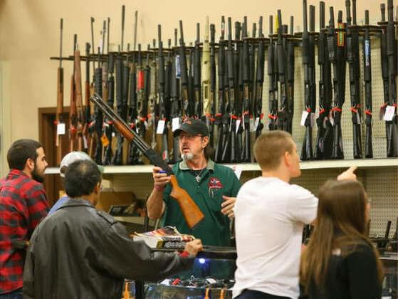 Georgia law requires instant federal background checks on prospective gun buyers when: