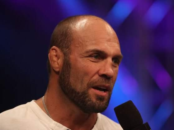 Who did Randy Couture spank in the middle of a fight?