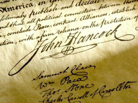Can you name the famous document that was signed in 1776?