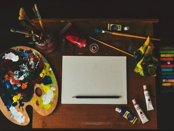 Given the task to express yourself on canvas, which painting tool would you choose?