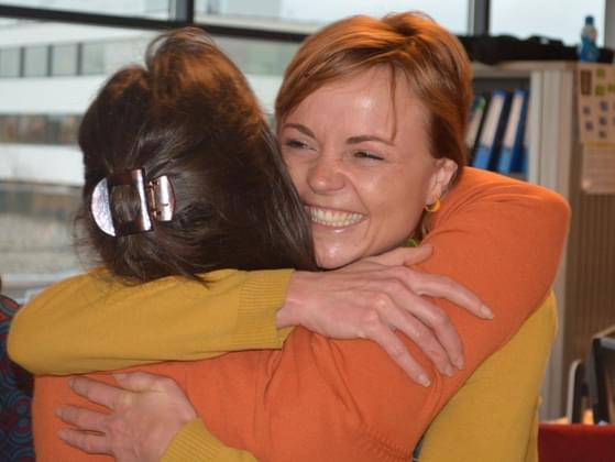 Do you hug people at work?