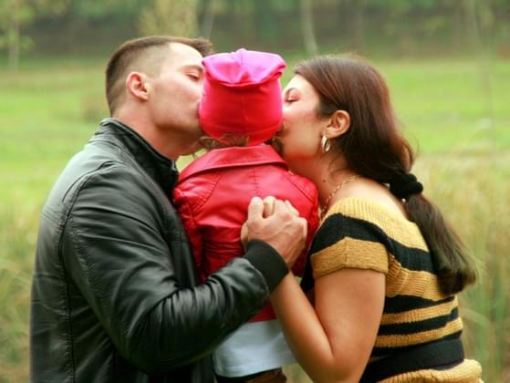 How do you say goodbye to your spouse before work?