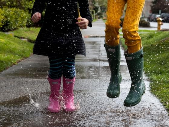 Are you the type of person to splash in puddles and play in the mud when it rains? Or would you rather stay warm and indoors?