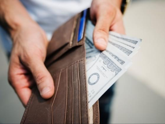 How much cash do you keep out of the bank at a time?