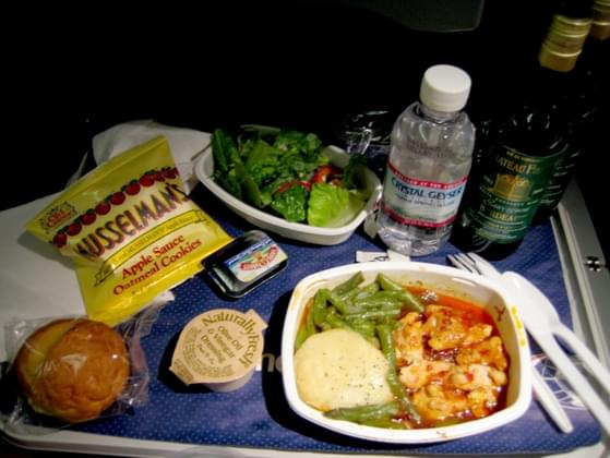 It's lunchtime on your flight. What do you do?