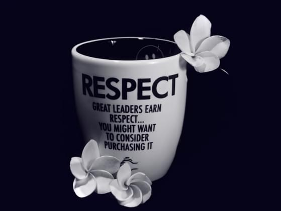 When it comes to respect.....