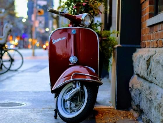 Would you rather ride a bike or a Vespa?