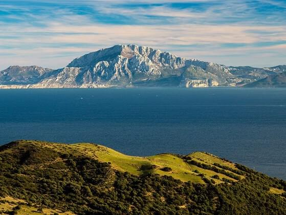 The Strait of Gibraltar divides Spain from
