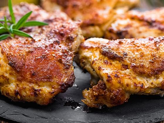 Looks like seared chicken thighs are next. Want some?