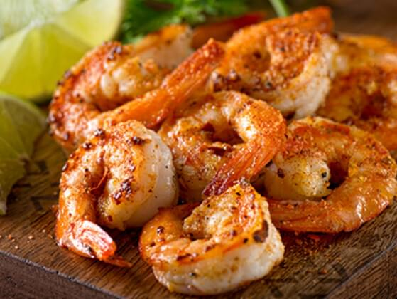 Yum! Grilled shrimp. Are you having some?