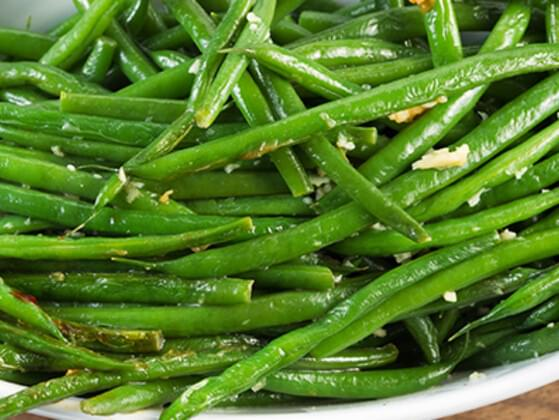 Those are some delicious looking green beans. Is there room on your plate?