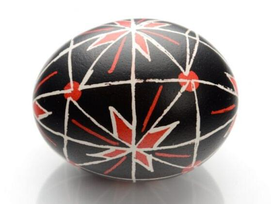This is a Ukrainian Easter egg. It's called a pysanky. Which room do you want to hide it in?