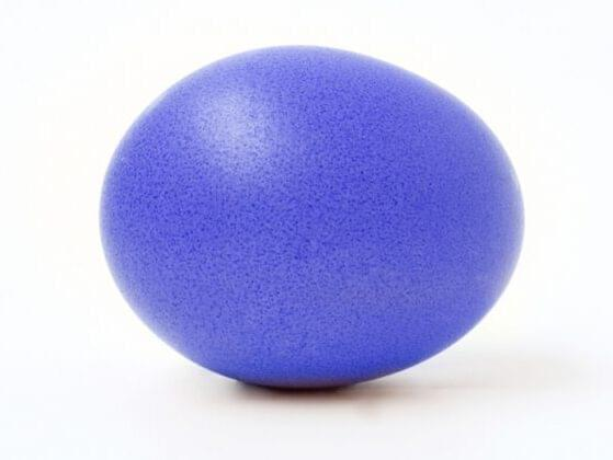 How pretty is this indigo egg?! Where do you hide this beauty?