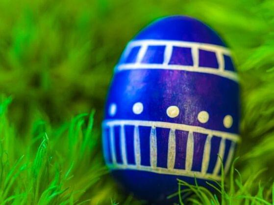 This egg clearly took some attention to detail with the decoration. Where should you put it so it won't be seen?