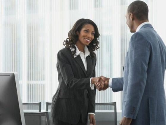 The hiring manager comes and shakes your hand. How firm is your handshake?