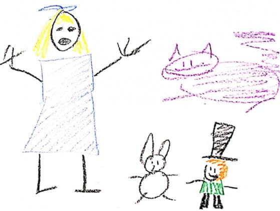 There's a lot going on in this drawing! Which strange story is this about?