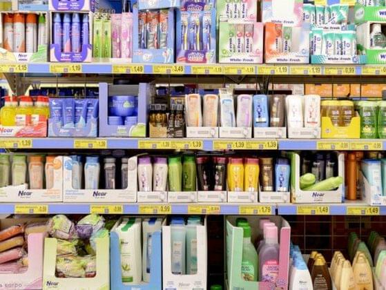 There are many things available at the grocery store that aren't food. Do you take this opportunity to snag some toiletries?