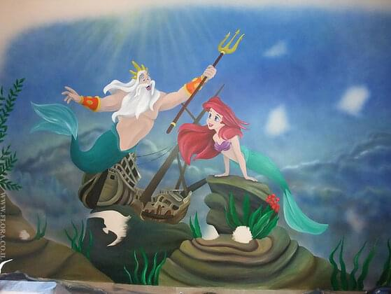 What does King Triton forbid Ariel from doing?