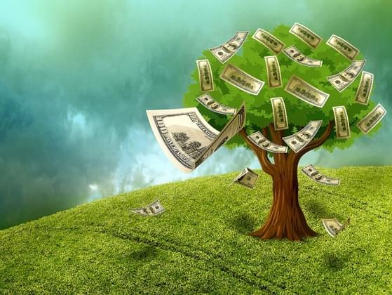 If you went outside and shook your metaphorical money tree, which denomination bill would most likely fall out?