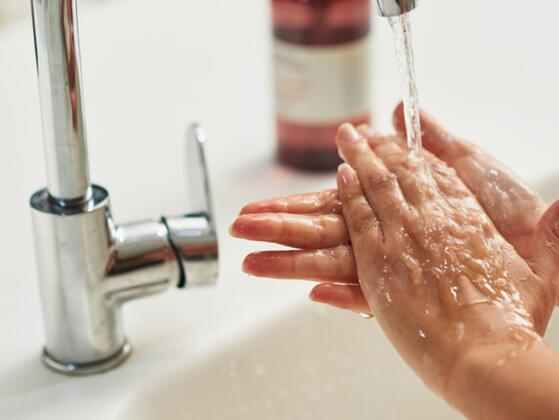 Do you wash your hands with soap and water after going to the bathroom?