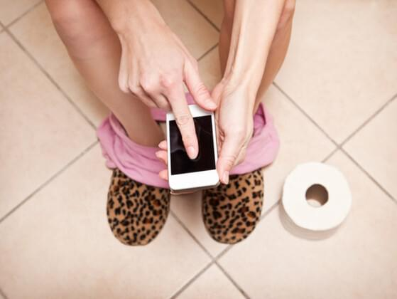 Do you use your phone in the toilet?