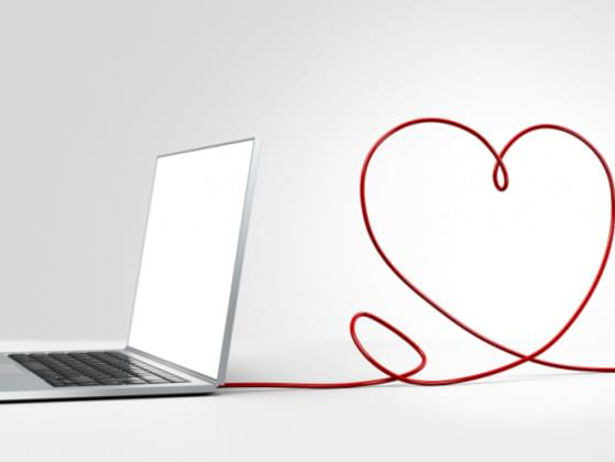 ...date your true love online forever or have an in-person relationship that's just so-so?