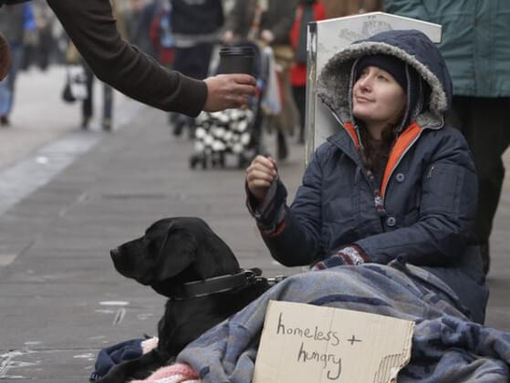 Do you give money to the homeless on the street?