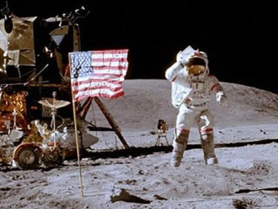 Which director do some people believe directed the faked moon landing?