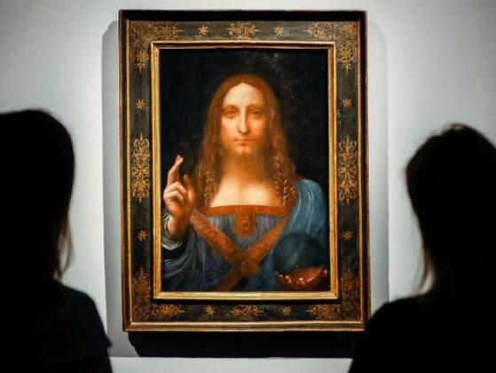 The artist may be long gone, but his masterpieces keep appearing. In November, a da Vinci painting sold for a record $450 million. What is the name of this piece of art?