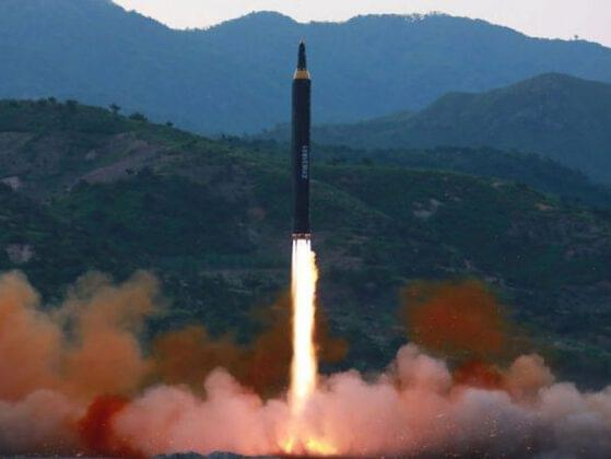 Tensions between North Korea and the United States rose during August when the North Korean military announced plans to strike an Air Force base on which U.S. territory?