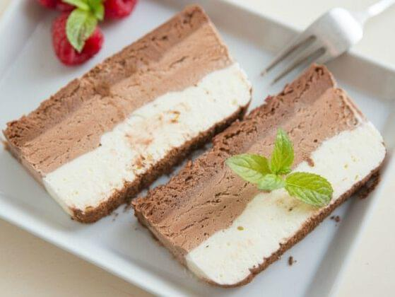 Holy frozen treats! What is NOT a difference between ice cream and semifreddo?