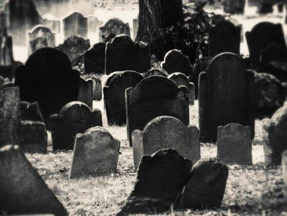 ... have to spend the night in a haunted house or in a graveyard?