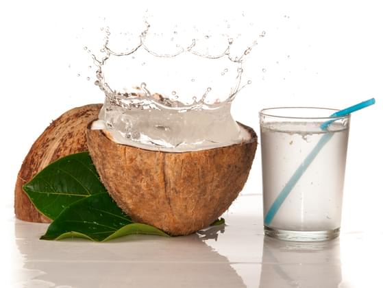 Regular water or coconut water?