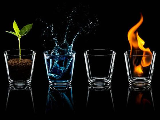 Choose one of the four elements: