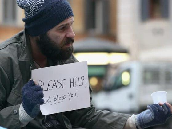 A homeless person asks you for money, you would be..