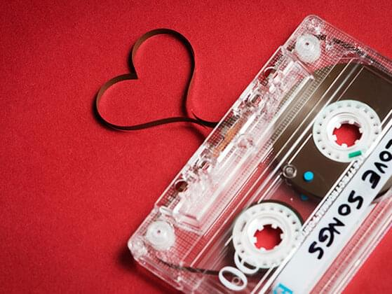 When you hear a love song on the radio, do you think of him?