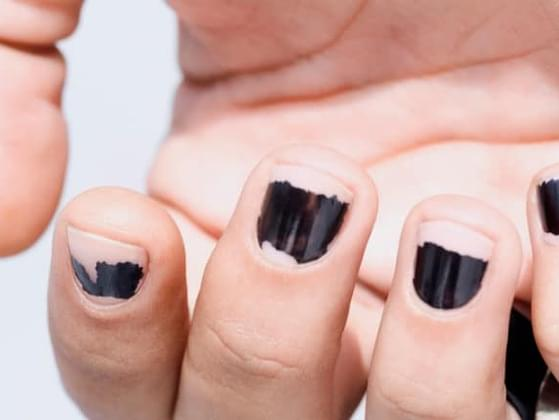 How often do you leave chipped nail polish on?