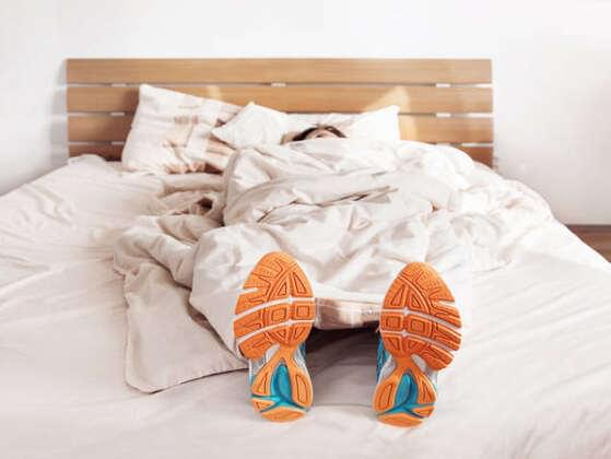 How often do you sleep in your next-day clothes?