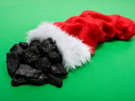 Are you at risk for getting coal in your stocking?