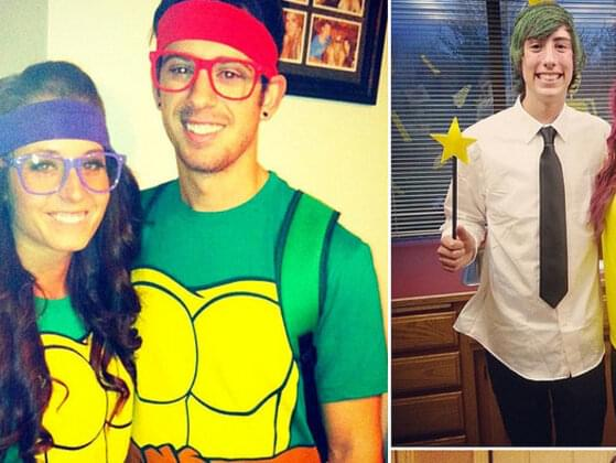 You dress in a couple's costume for a Halloween party. What do you go as?