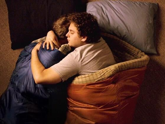 The first time we slept together was: